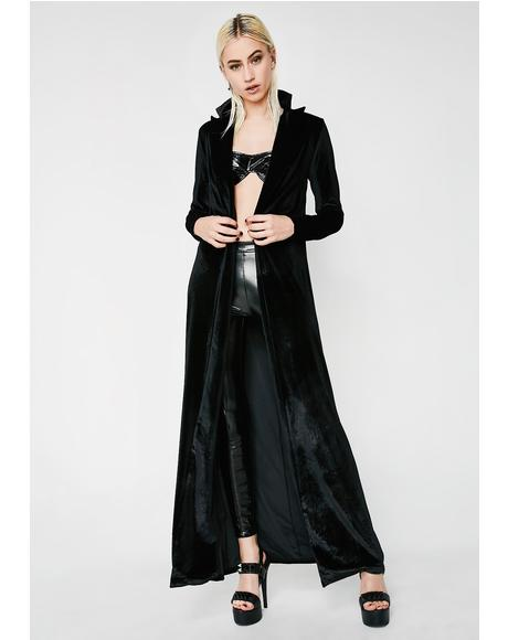 Midnight Champagne Showers Trench Coat