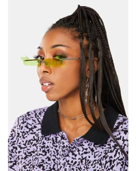 Lush Step On it Flame Slim Sunglasses