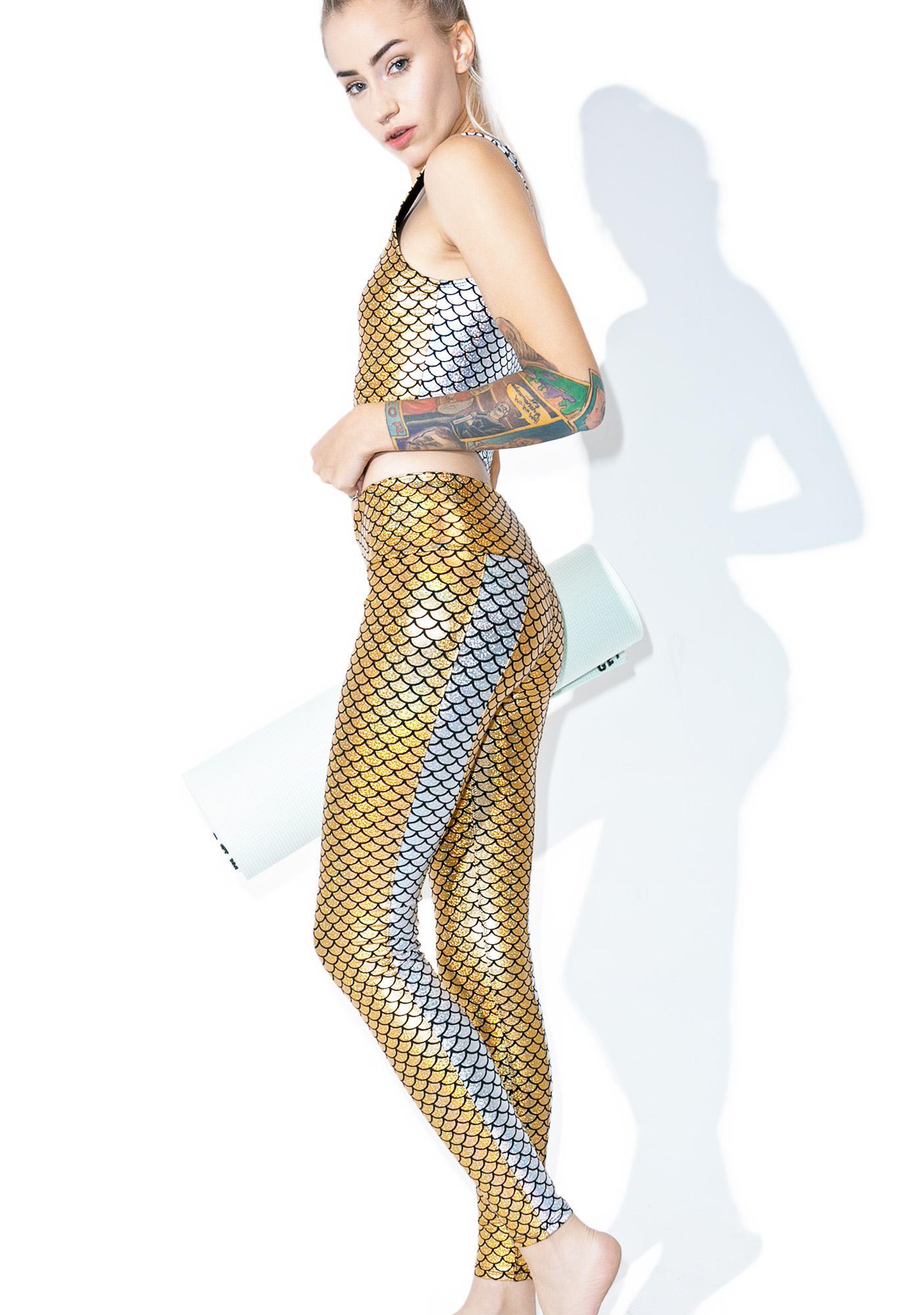 PURUSHA PEOPLE Mermaid Hologram Leggings