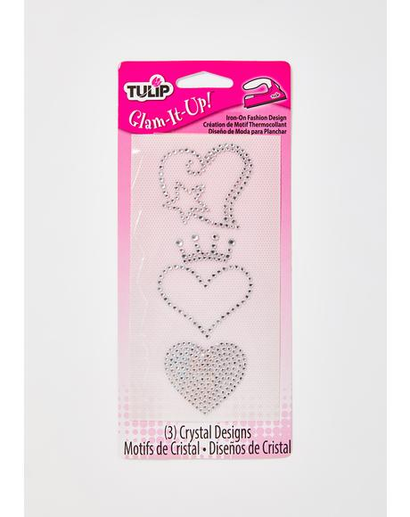 Royal Romance Rhinestone Iron On Designs