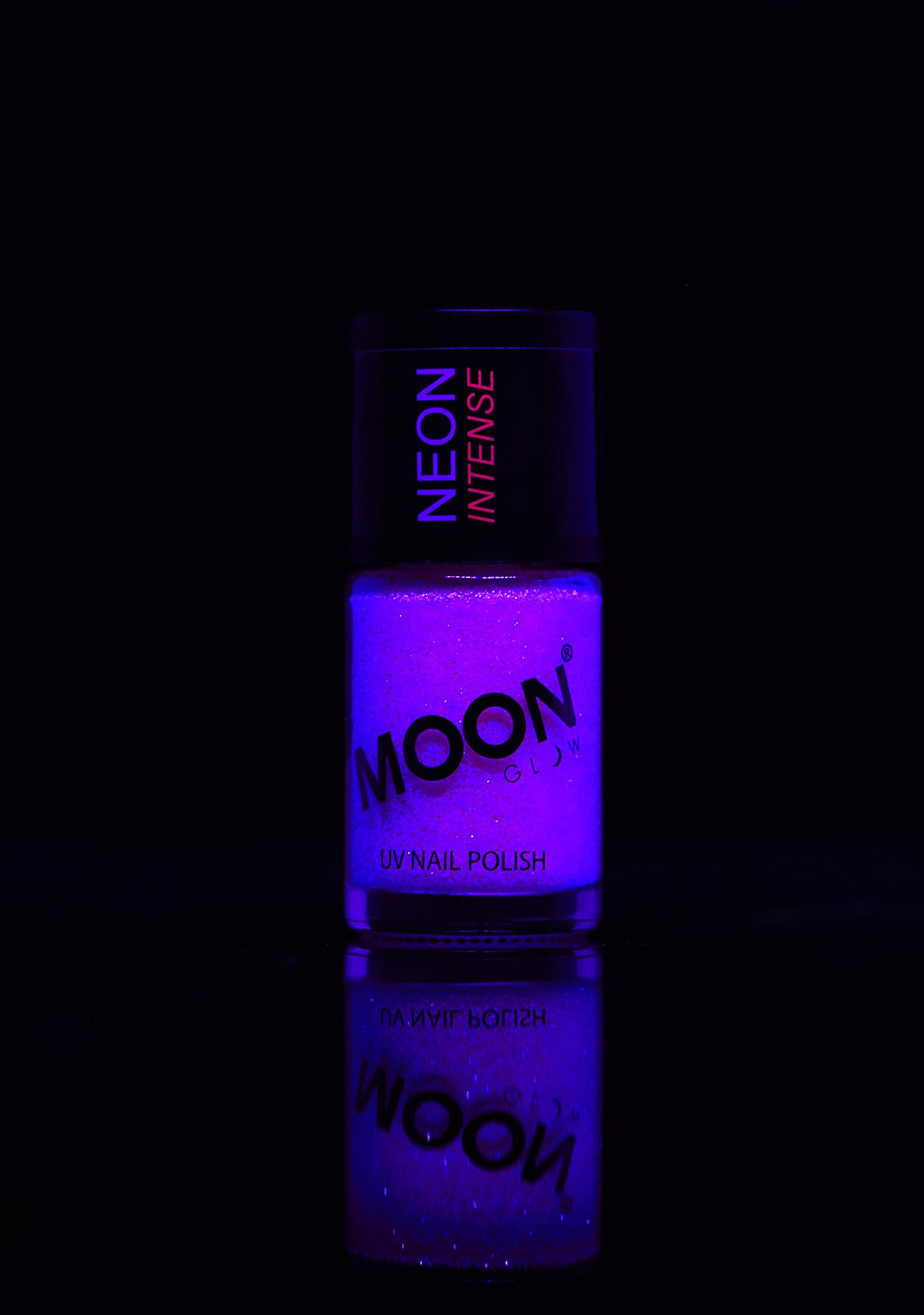 Moon Creations Neon Purple UV Glitter Nail Varnish