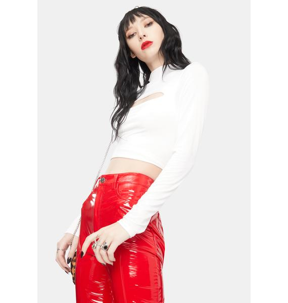 Here We Go Again Cut Out Crop Top