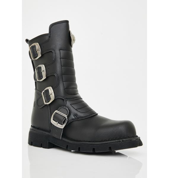 New Rock Wicked Colder Than Ice Combat Boots
