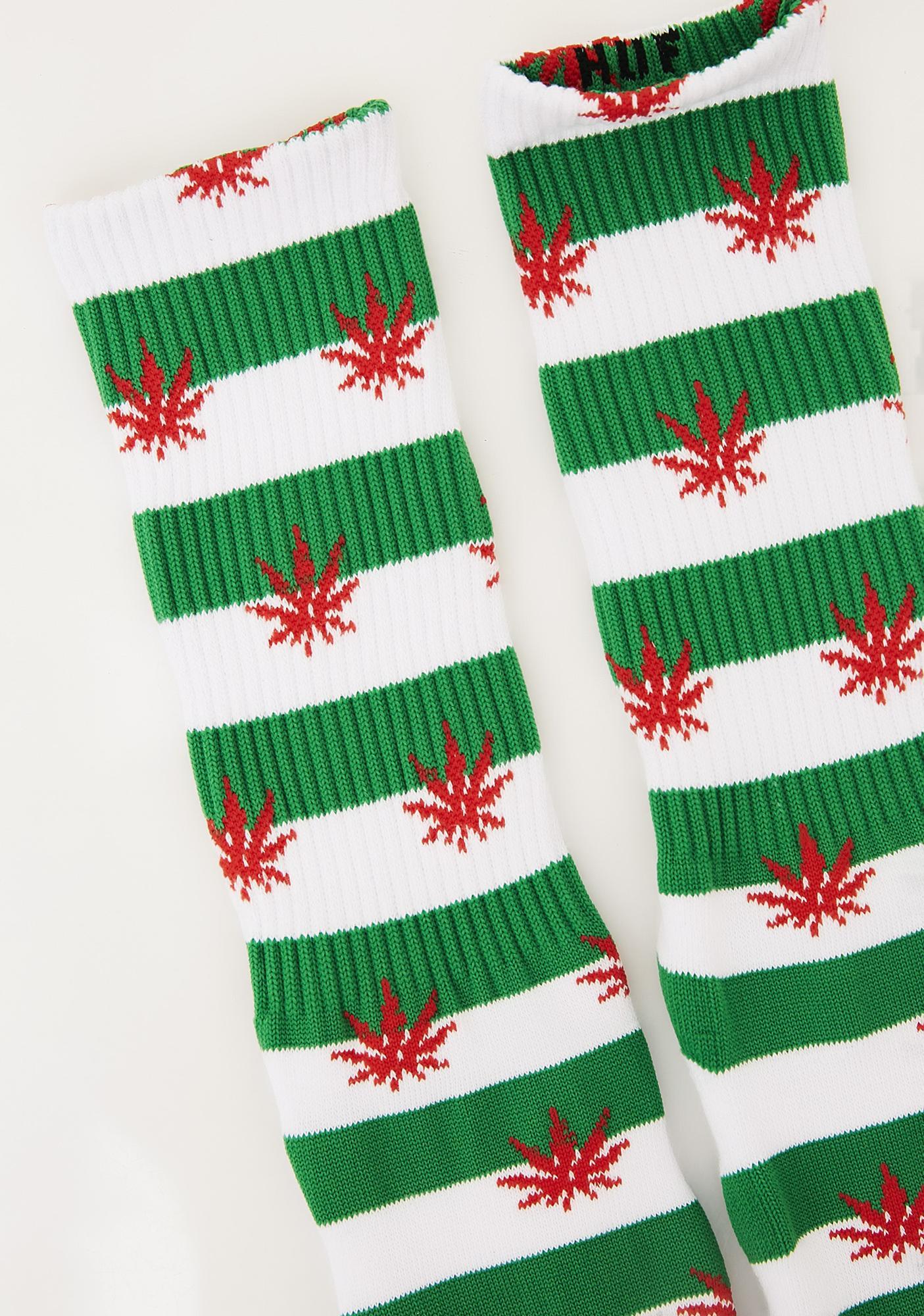 HUF Plantlife Candy Cane Socks