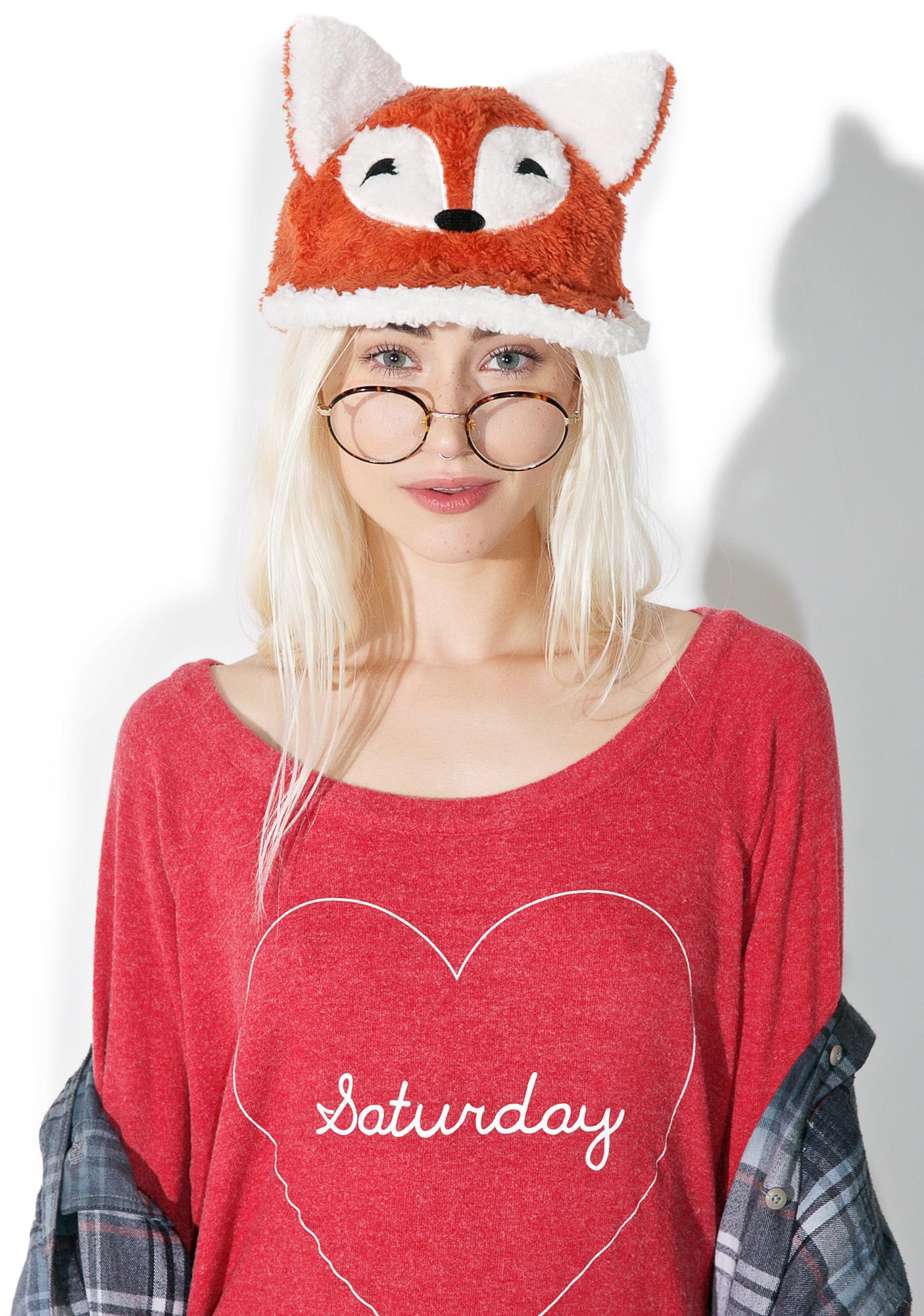 Fuzzy Fox Hat