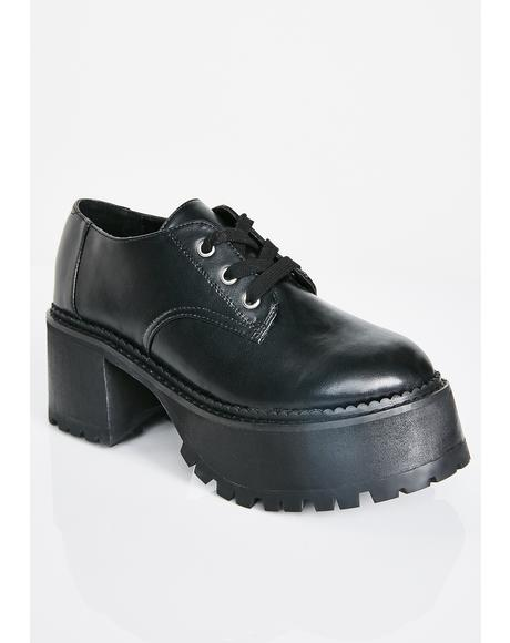 Midnight High School Hellcat Chunky Platforms