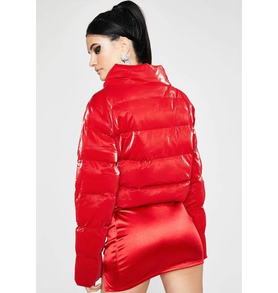 Heard U Talkin Puffer Jacket