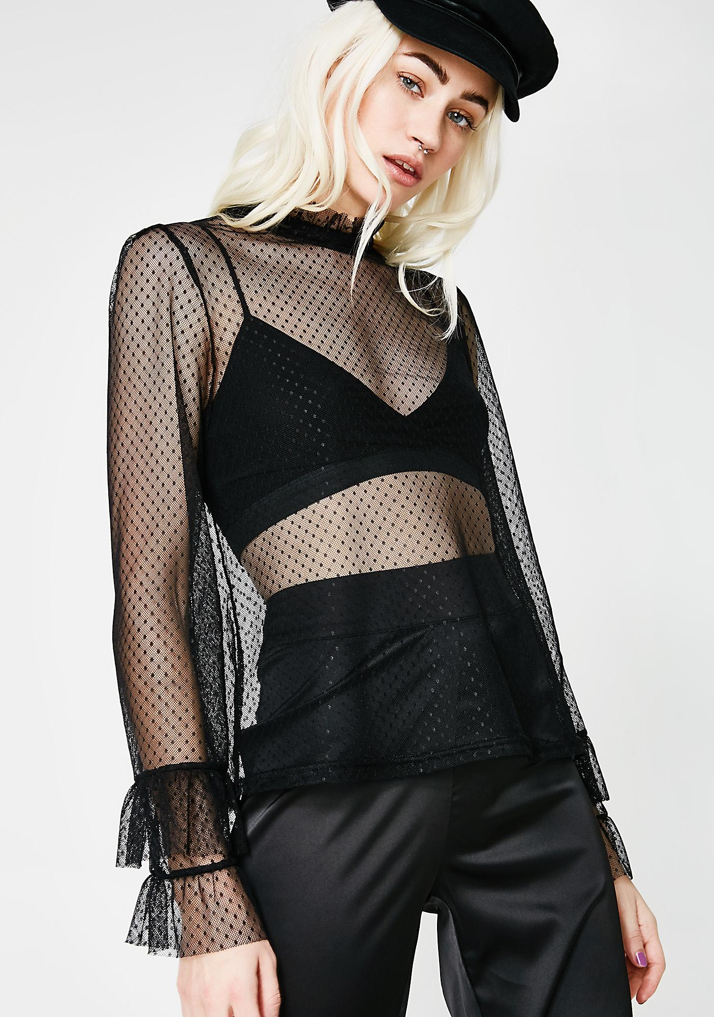 Humble Yourself Mesh Top