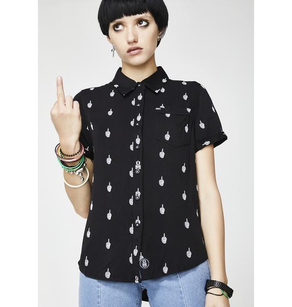 Rebel8 Skeptic Button Up Shirt