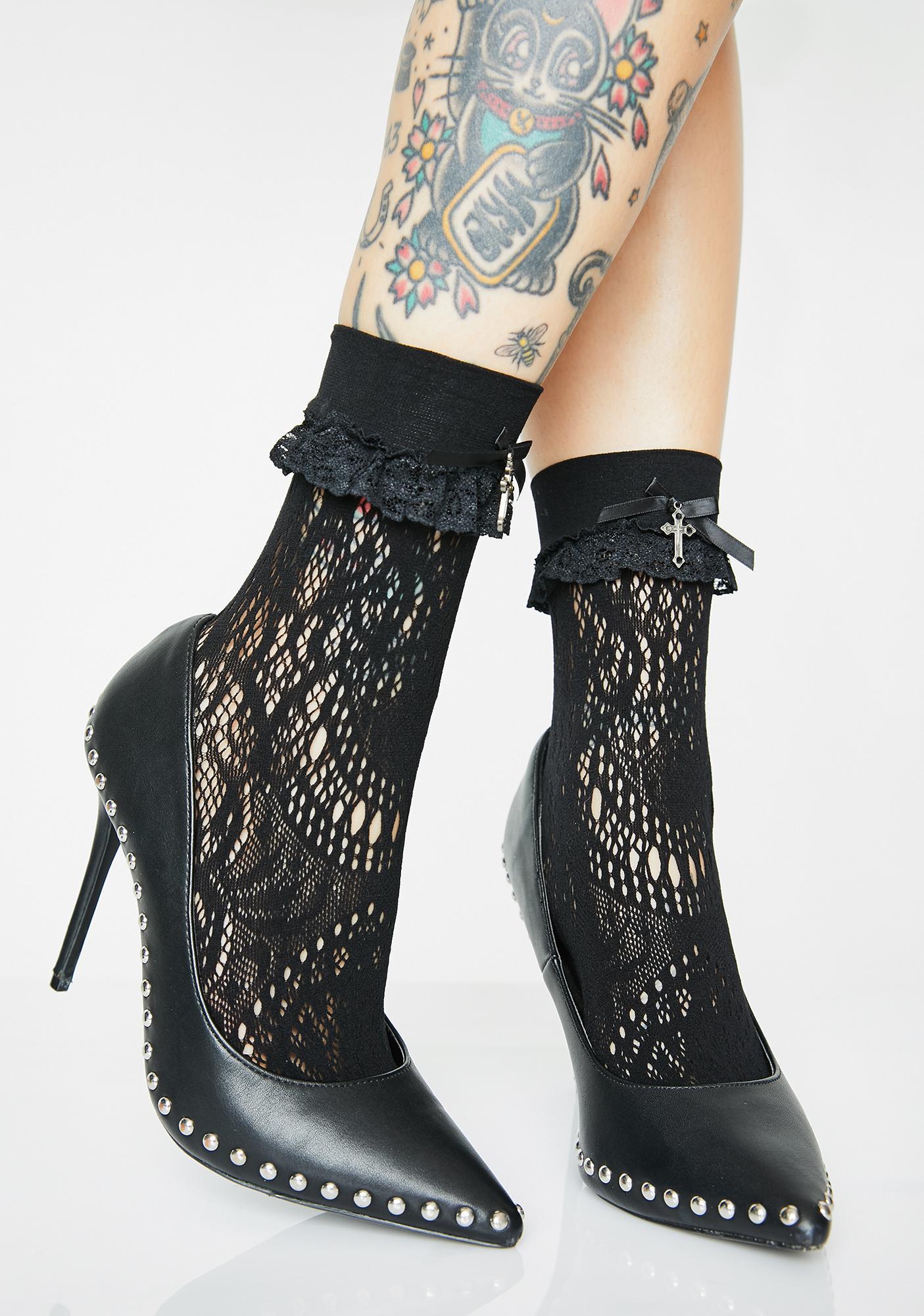 Killstar Amora Lace Socks