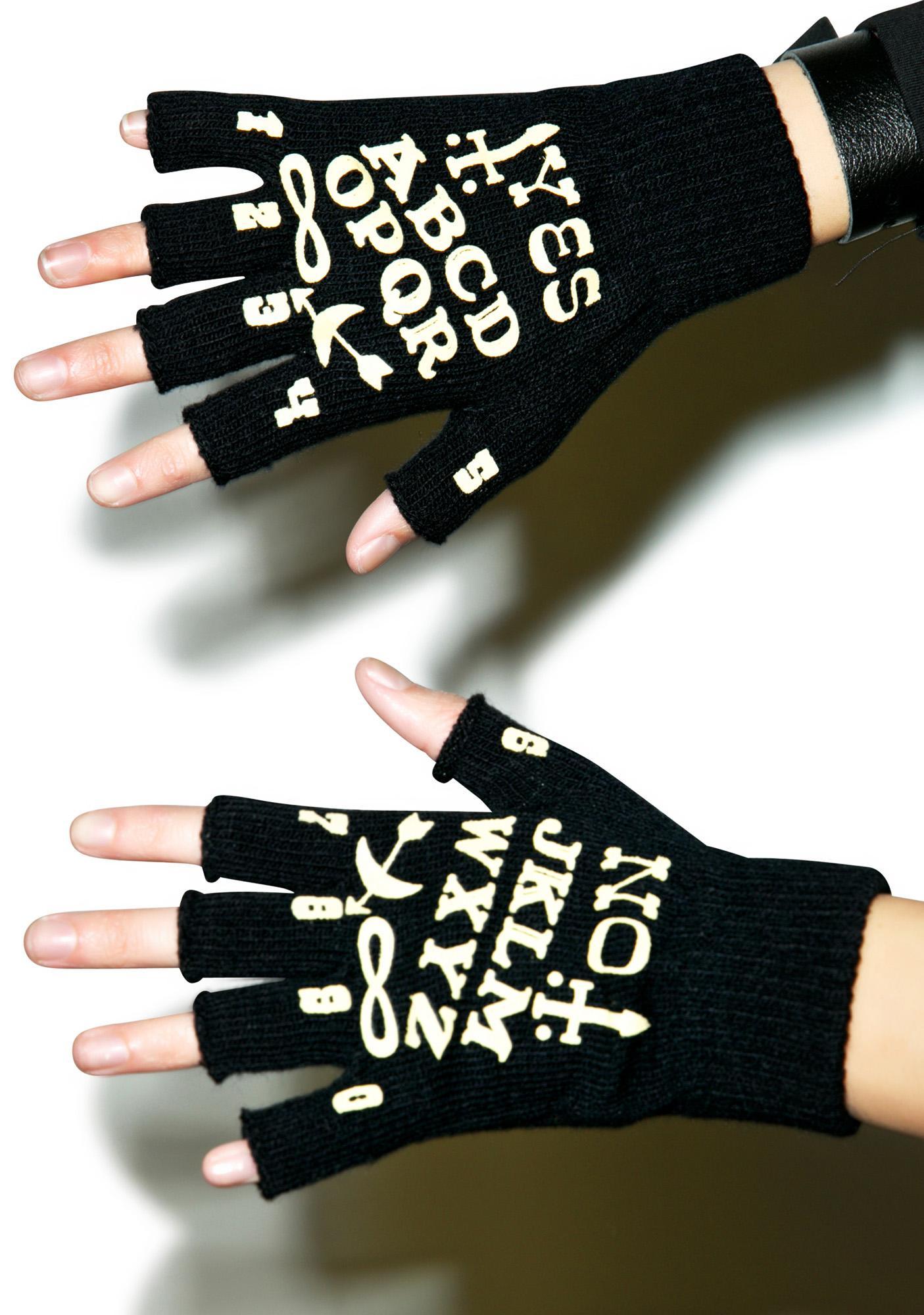 Too Fast Wanna Ouija Fingerless Gloves