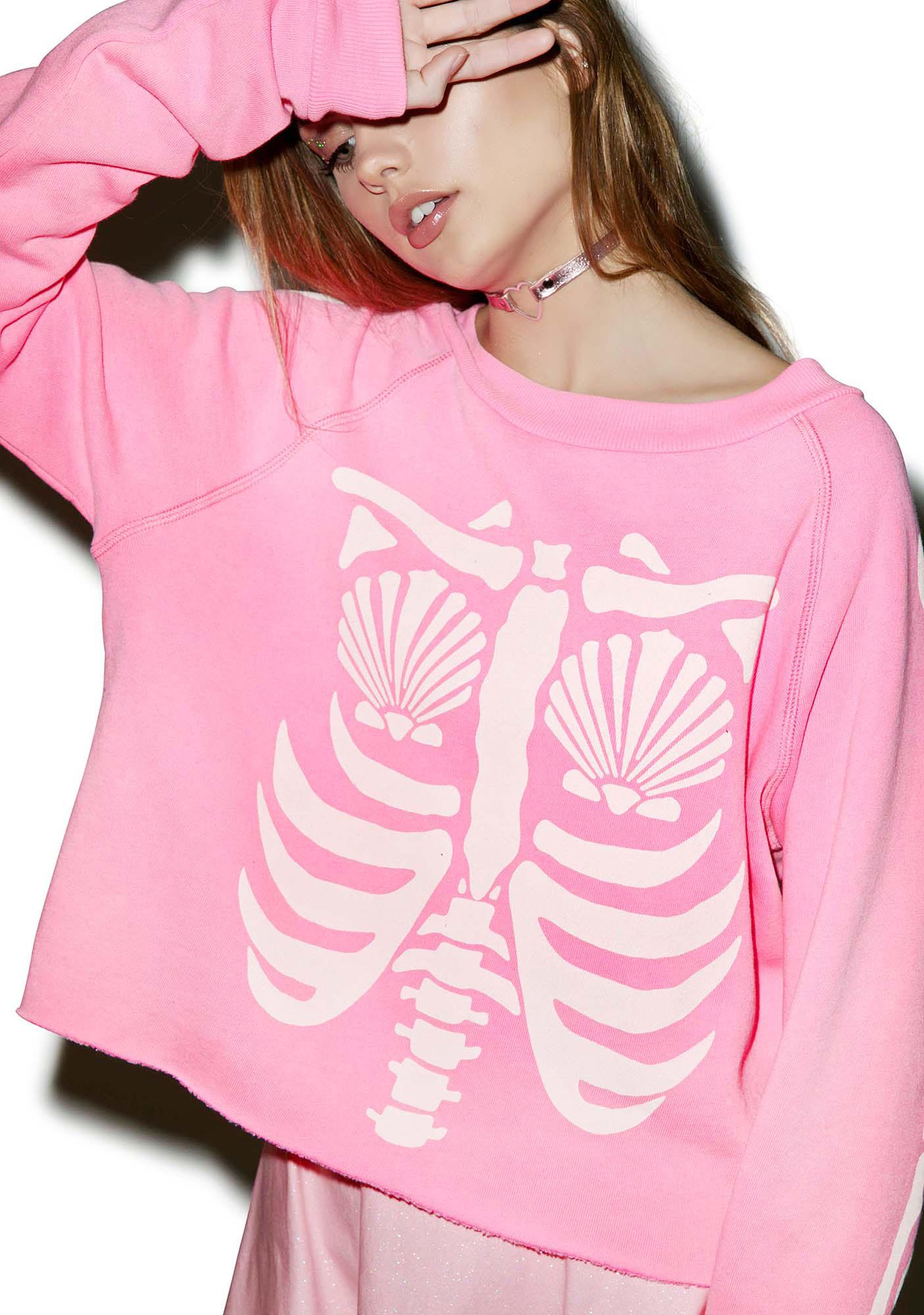 Wildfox Couture Mermaid X-Ray Monte Crop