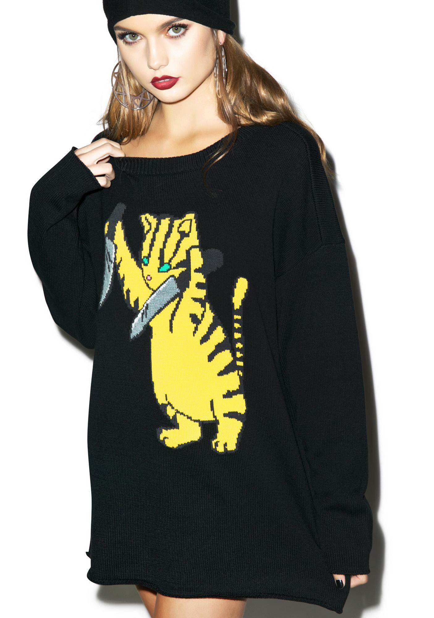 Iron Fist Stabby Cat Sweater
