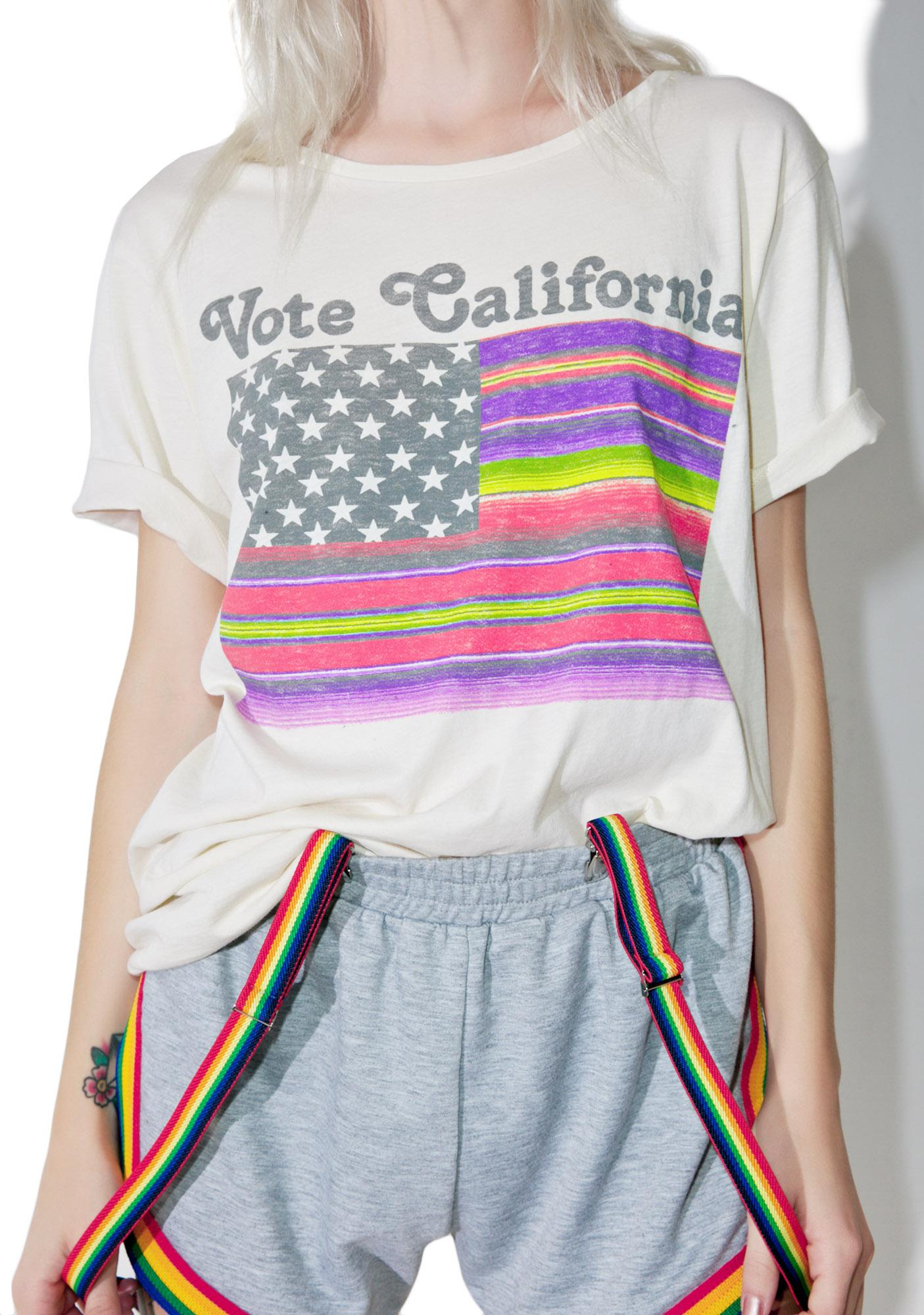 Junk Food Clothing Vote California Tee