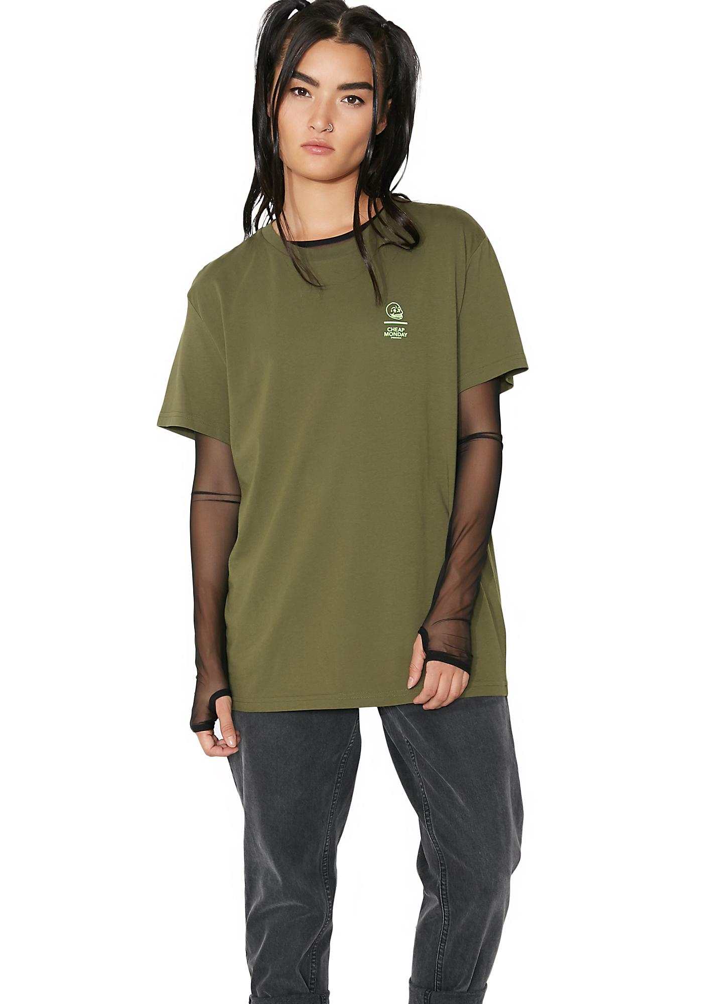 Cheap Monday Standard Line Skull Tee