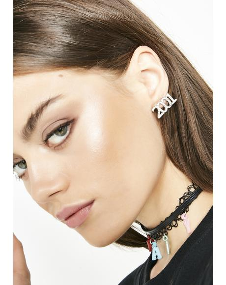 The Double Ohs Rhinestone Earrings