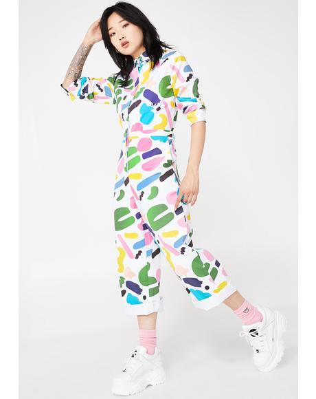 x Studio Arhoj Rue Print Boiler Suit