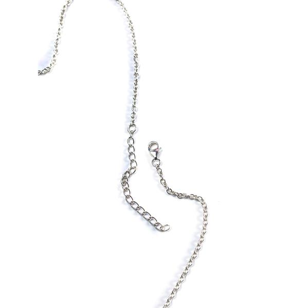 Disturbia Alien Nameplate Necklace