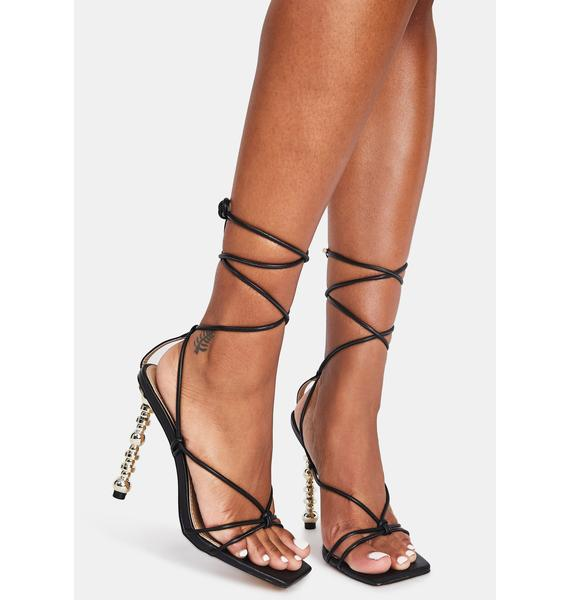 Trophy Wife Lace Up Heels