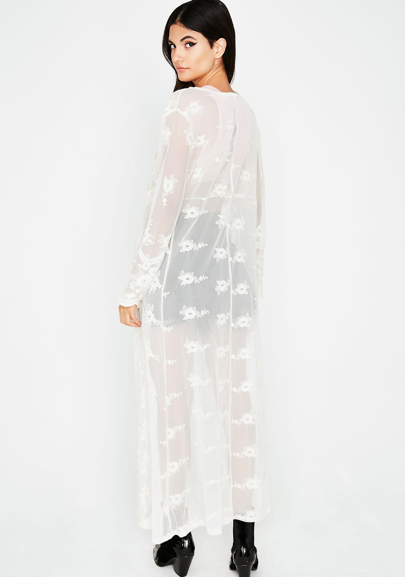 Chill Set The Mood Lace Kimono