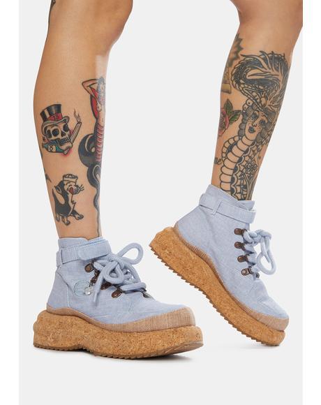 Blue Gaia Platform Hiker Boots