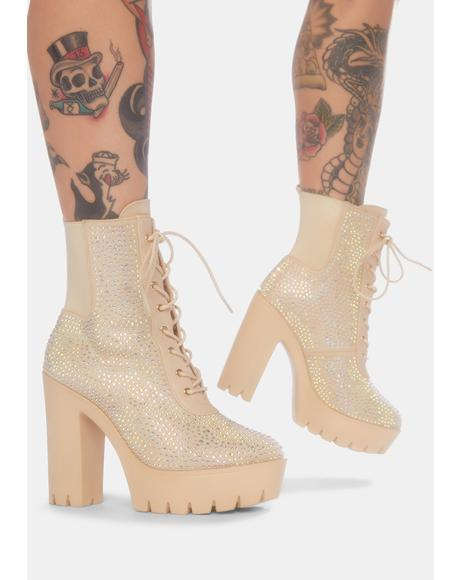 Taupe Scene Stealer Heeled Boots
