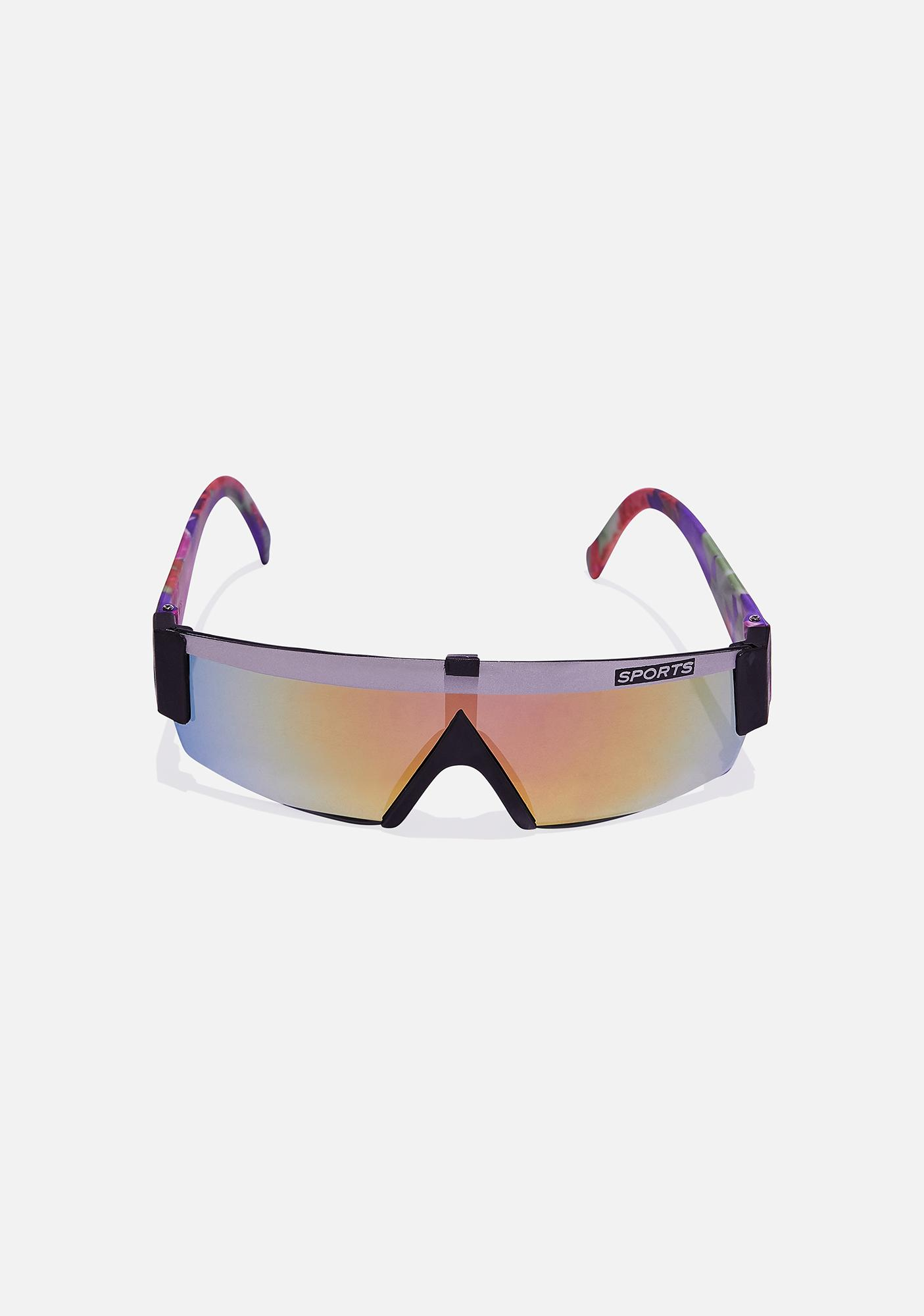 Good Times Eyewear Gray Black Sports Sunglasses