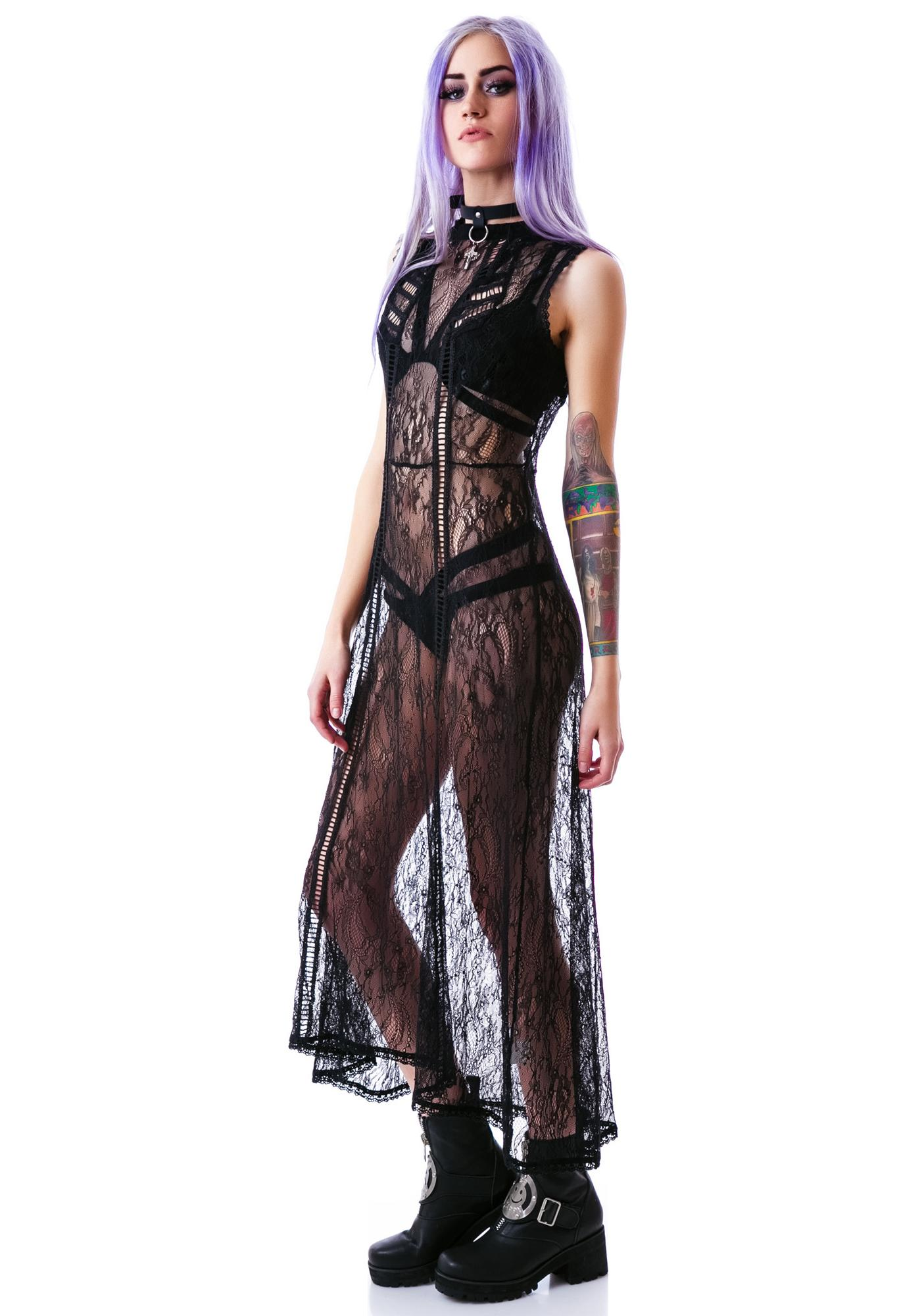 Mystic Magic Lace Maxi Dress