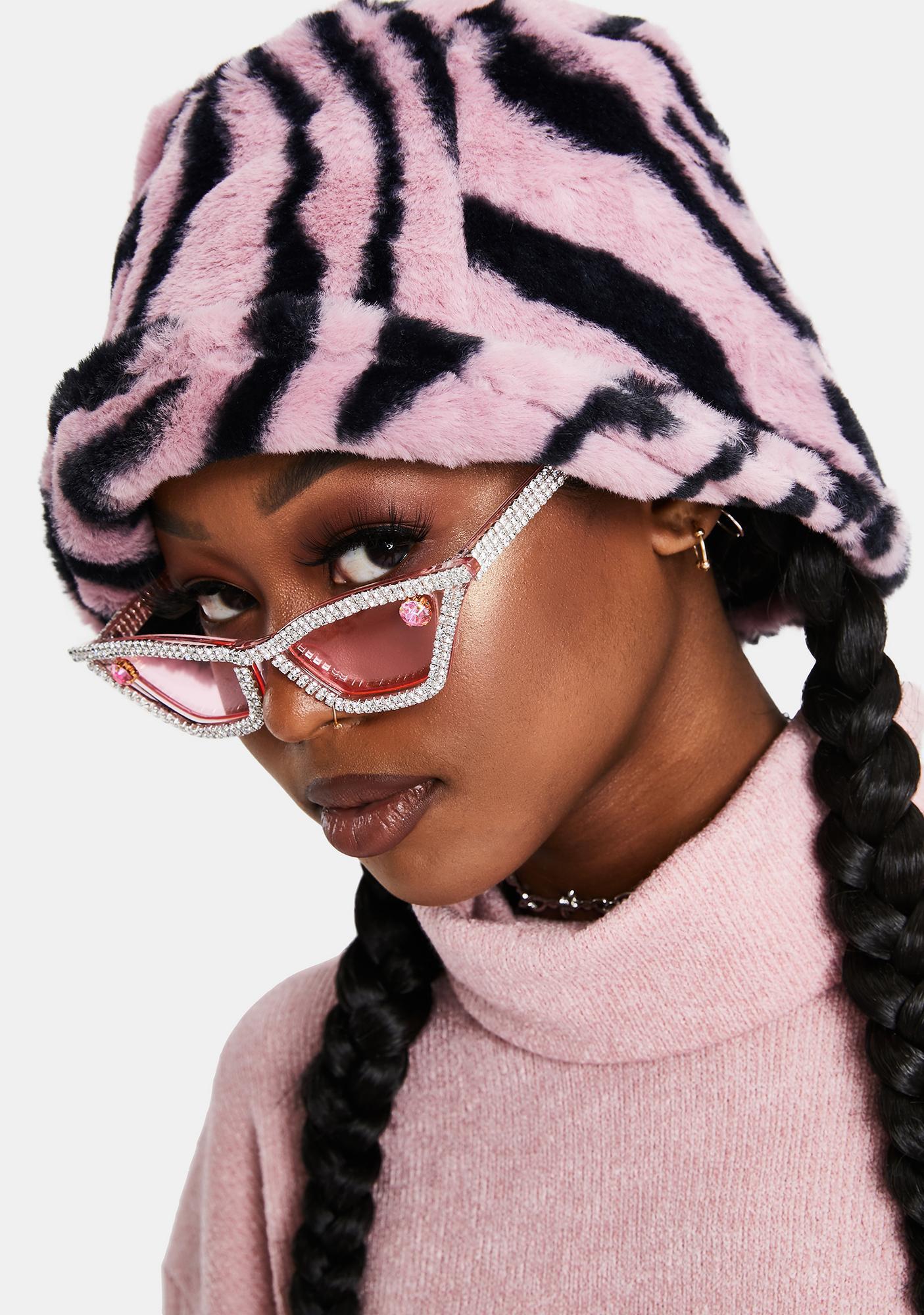 Sugar Ask Me 'Bout It Rhinestone Sunglasses