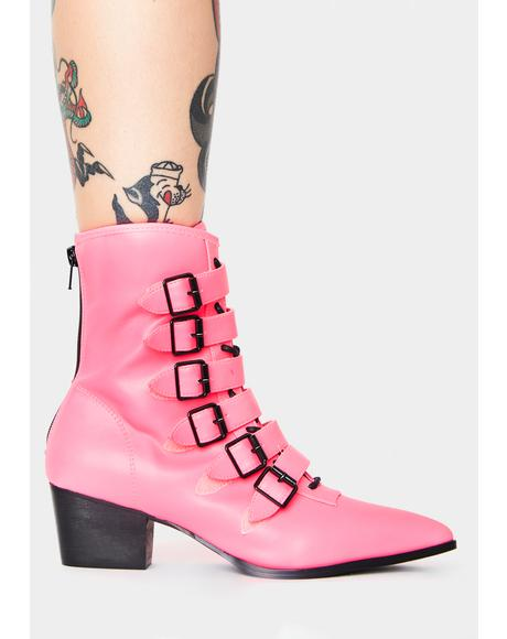 Pink Coven Boots
