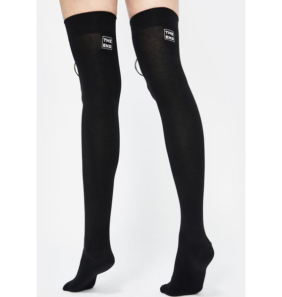 The End Lingerie Captive Bead Thigh High Socks