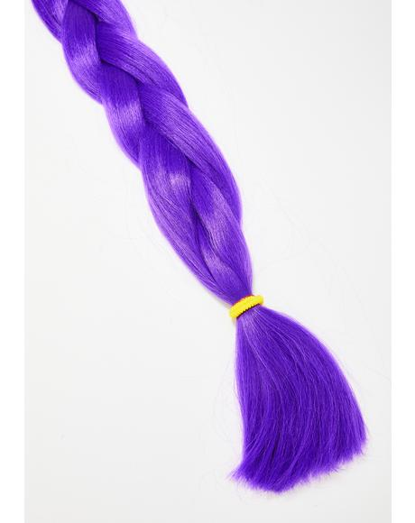 Neon Purple Add In Hair Extensions
