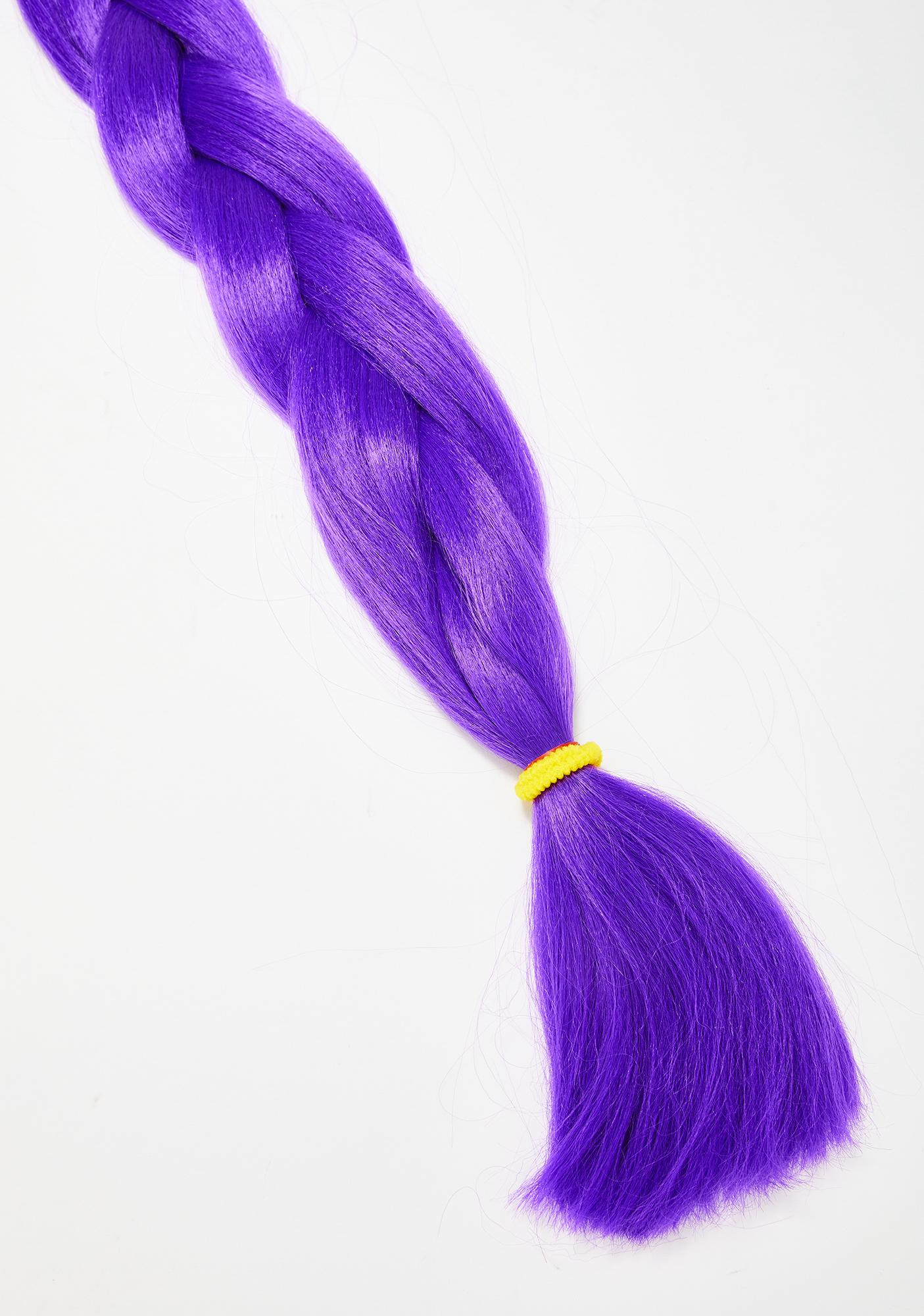 Go Get Glitter Neon Purple Add In Hair Extensions