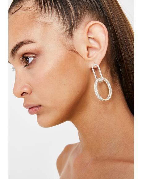 Double Dutch Rhinestone Earrings