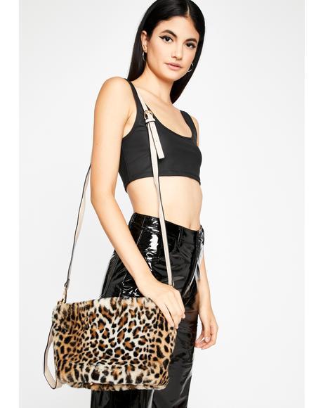 Savage Too Damn Glam Fuzzy Handbag