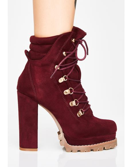 Merlot Chicago Winds Ankle Boots