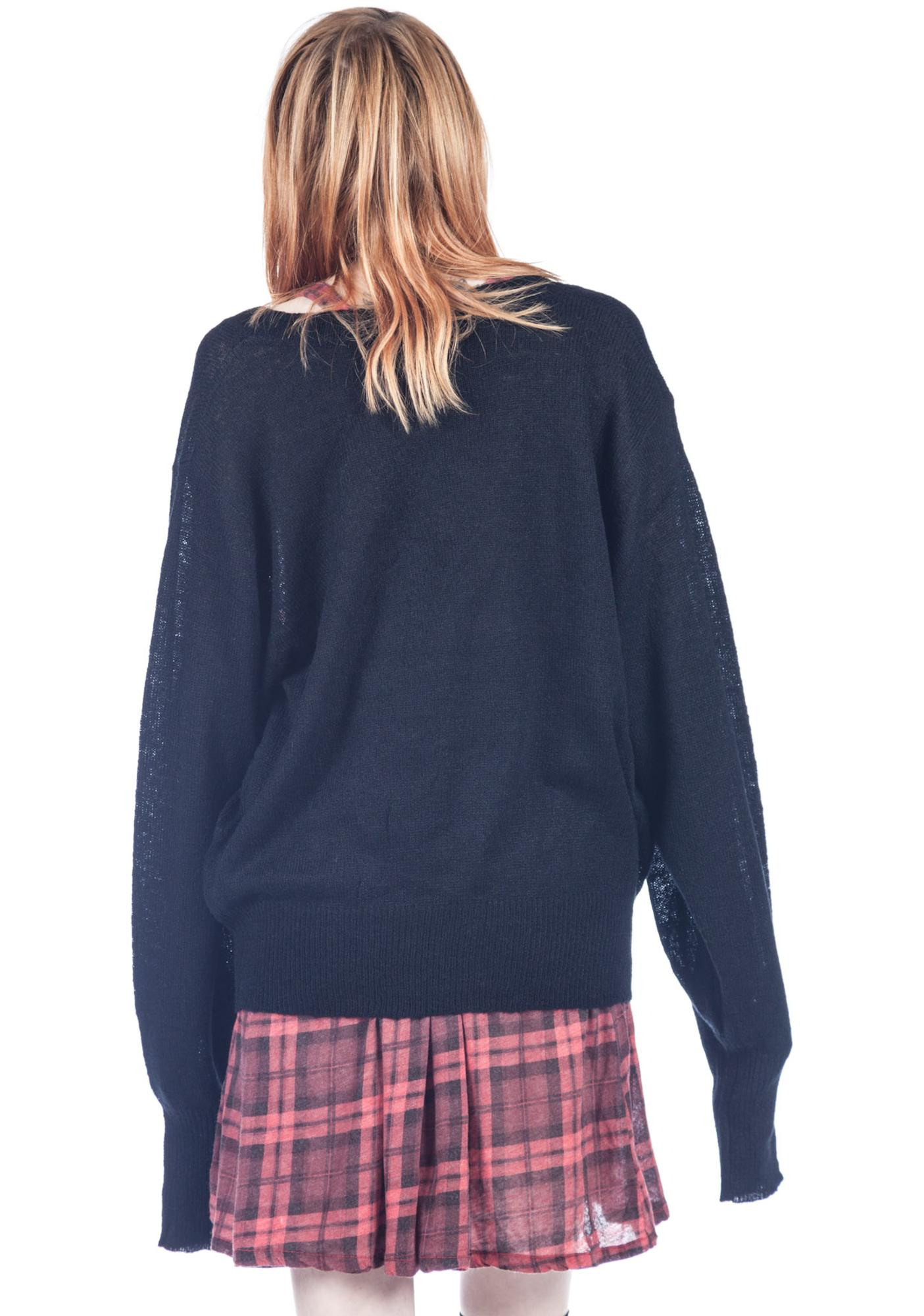 Wildfox Couture Mutiny School Girl V-neck Sweater