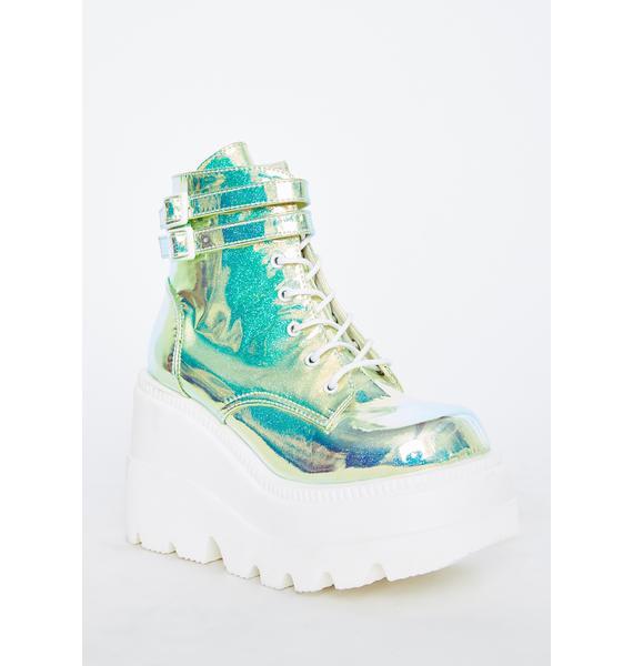 Demonia UV Glitter Technopagan Boots