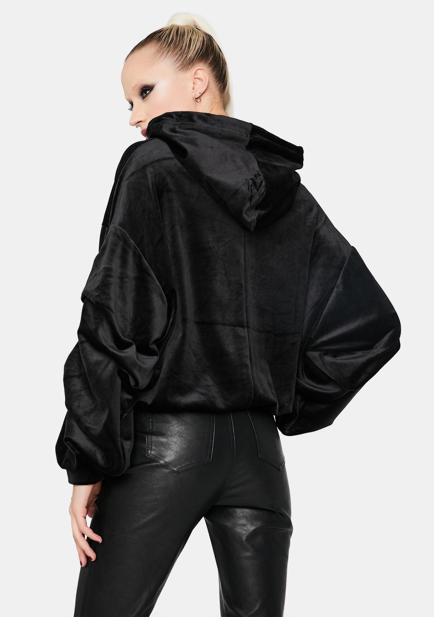 Noir Better And Better Velvet Hoodie