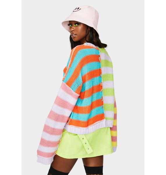 The Ragged Priest Editor Striped Knit Sweater