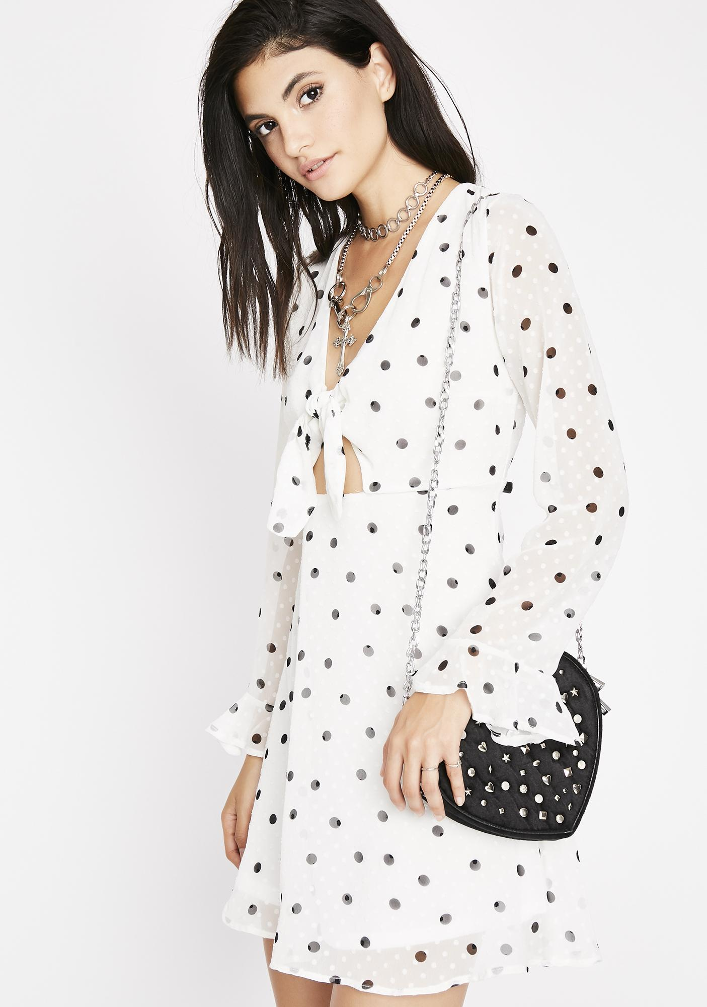 Pure Center Stage Polka Dot Dress