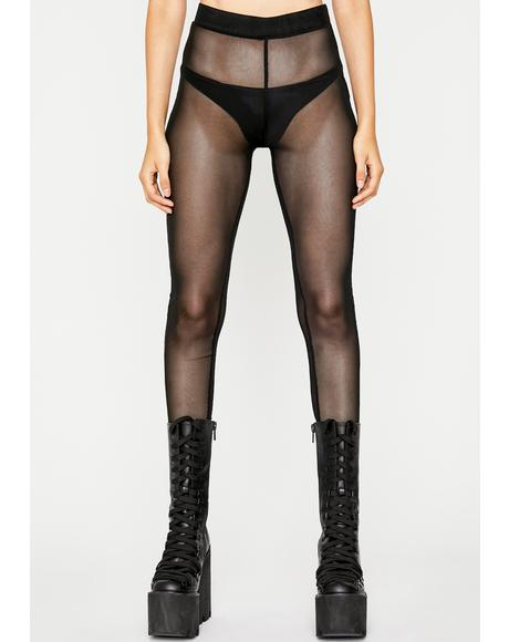 Dark Pure Naughtiness Sheer Leggings