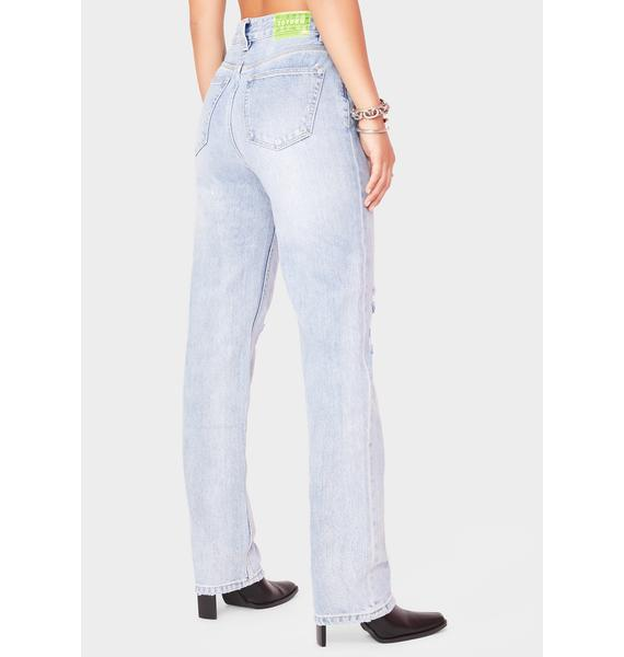 Zee Gee Why Straight Up Distressed Denim Jeans