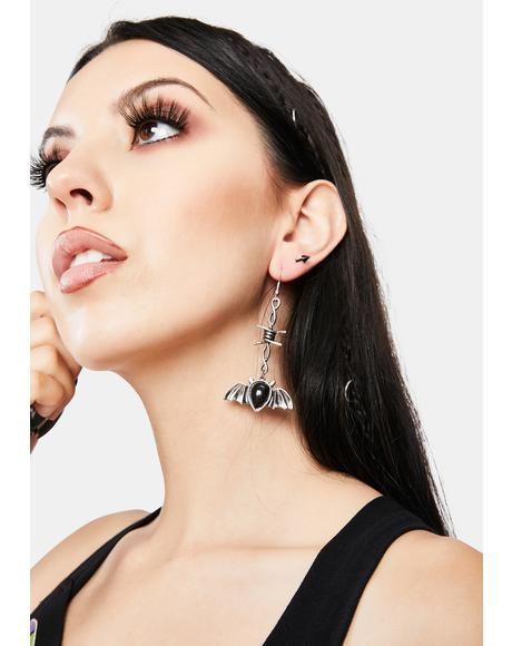 Bat's My Name Drop Earrings