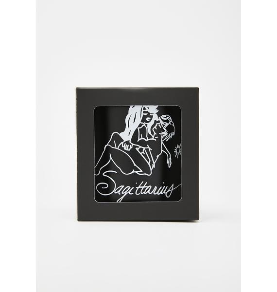 Black Cake Sagittarius Zodiac Massage Candle