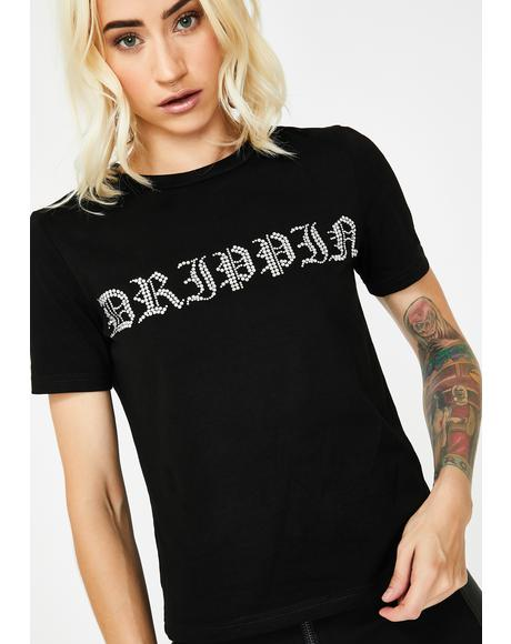Drippin Rhinestone T-Shirt