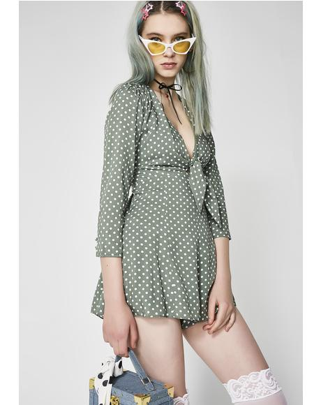 Way Back Polka Dot Romper