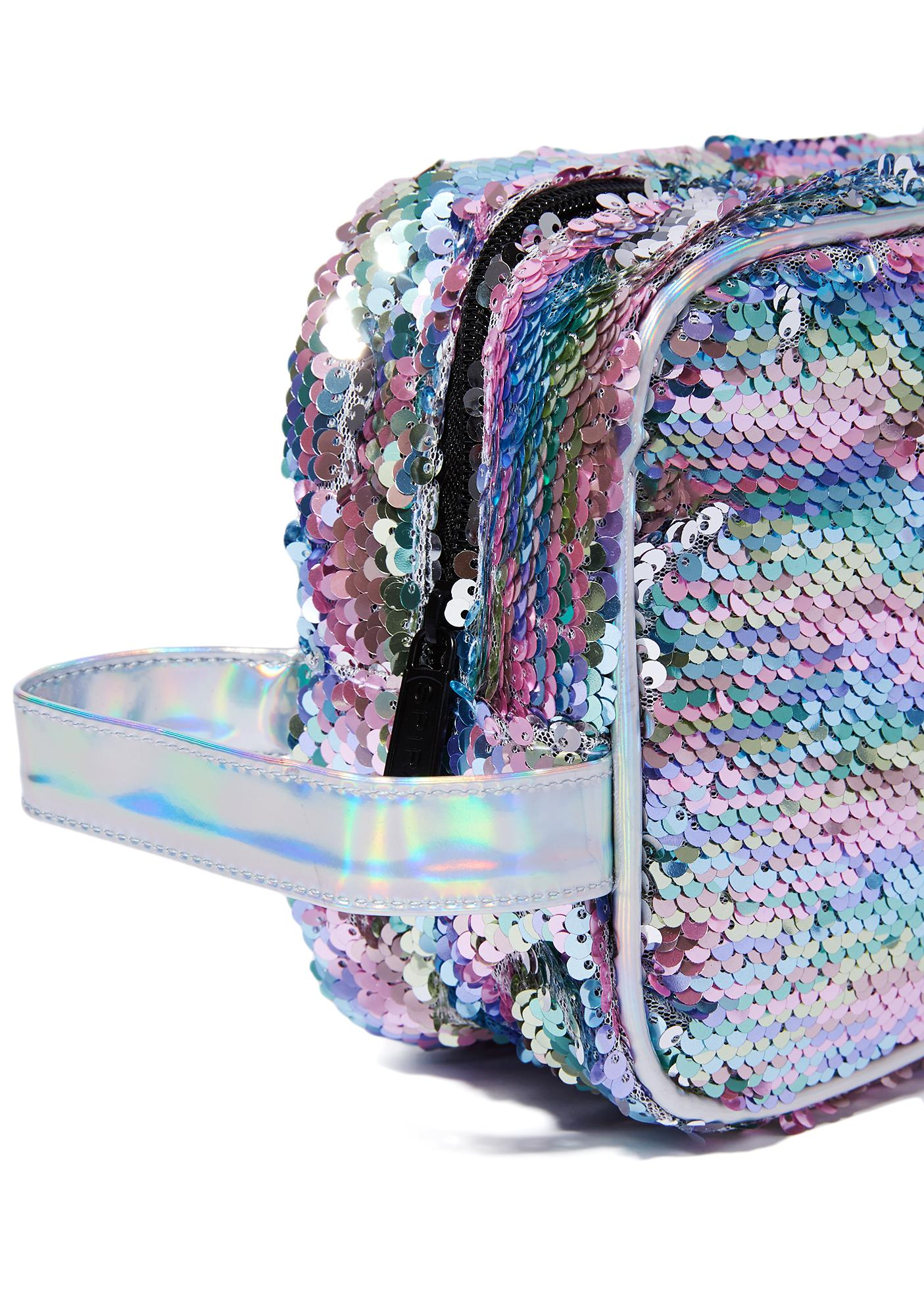 Spiral UK Rainbow Sequins Portland Cosmetic Bag