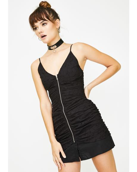 Black Unoriginal Sin Mini Dress