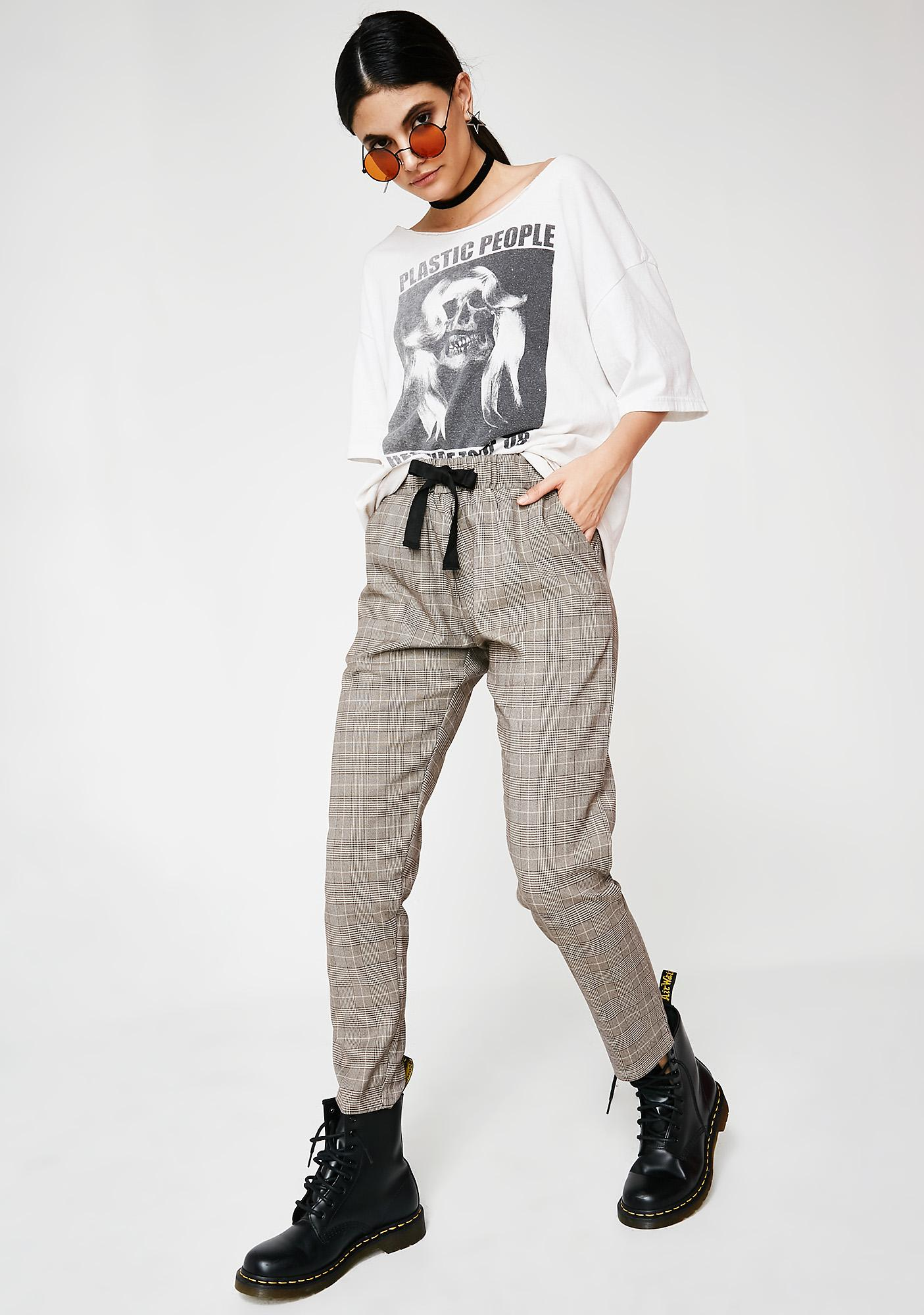 Make It Up Plaid Trousers